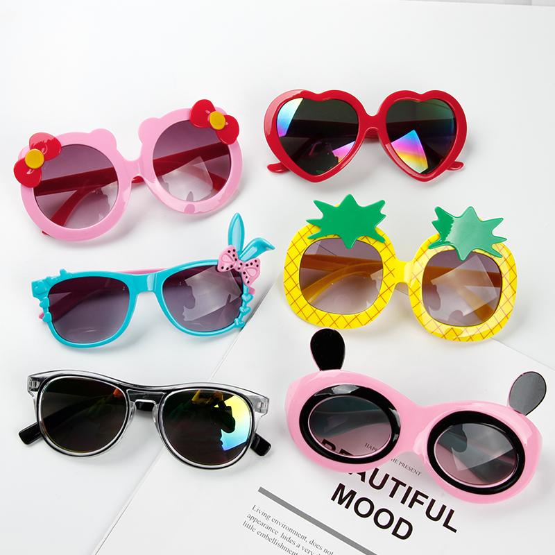 韩国儿童墨镜宝宝可爱卡通防紫外线太阳镜潮妞配饰眼镜男女遮阳镜