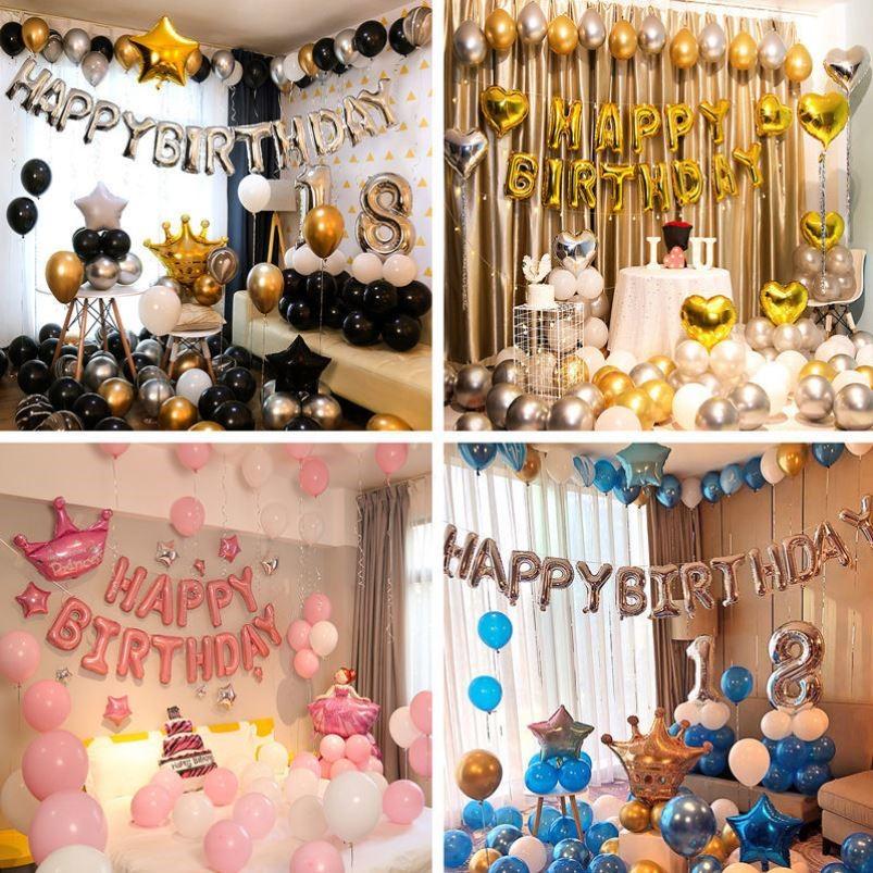 中國代購 中國批發-ibuy99 派对装饰 孩子生日布置生日派对布置装饰品网红套装气球成人礼男孩女孩儿童