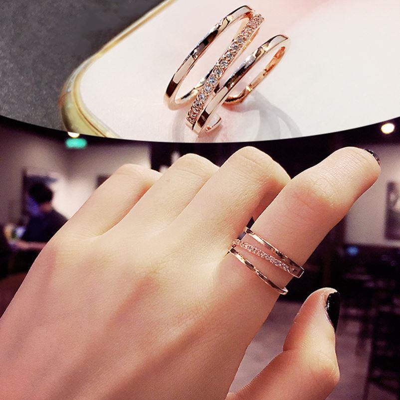 中國代購|中國批發-ibuy99|戒指|女生戒指单人戒冷淡风小众设计时尚个性轻奢简约食指可调节网红潮