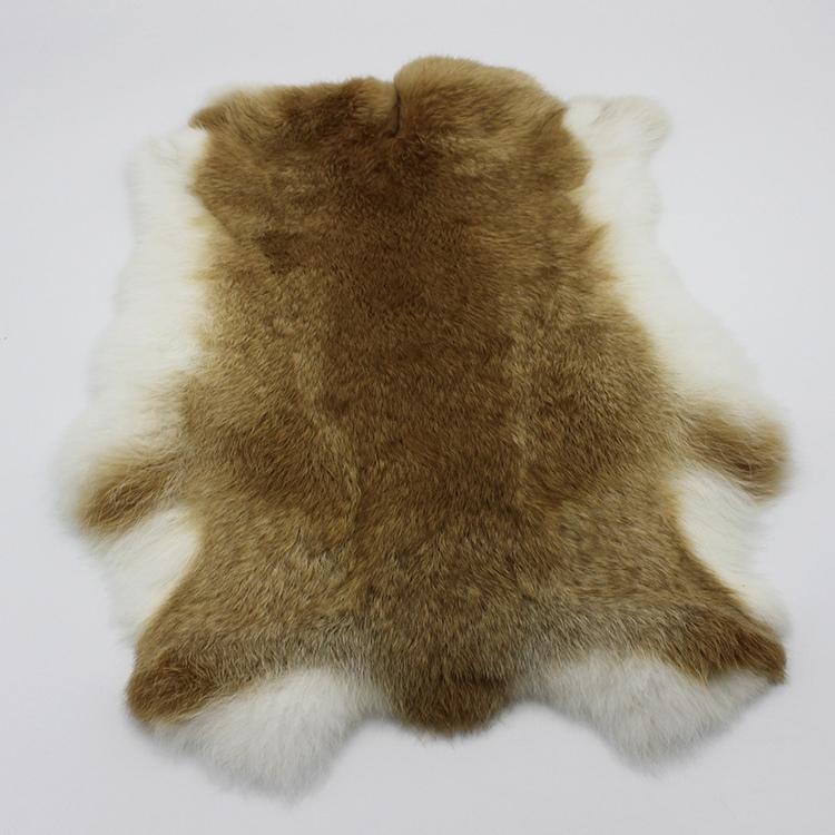 兔皮整张兔毛皮草布料坐垫裘皮服饰服装内胆手包毛领护膝獭兔皮料