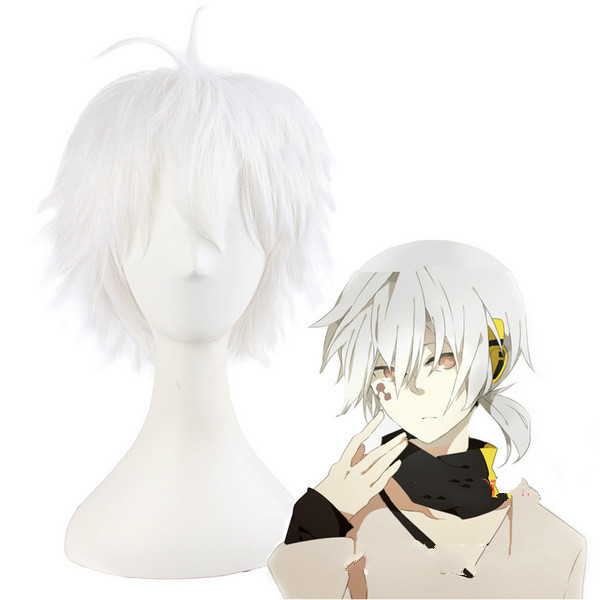 Animation Yangyan project series high temperature silk cos wig male white role playing wig