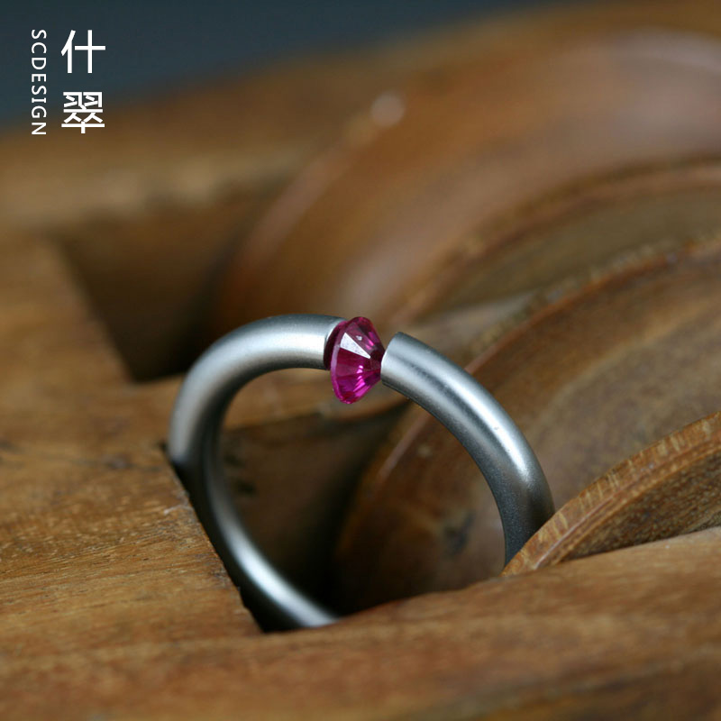 Shicui niessing high noon titanium steel ring with European and American style