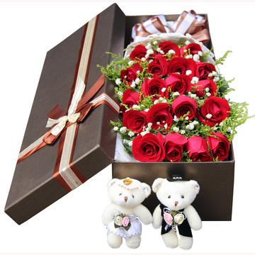 鲜花速递红玫瑰礼盒黄石同城鲜花武汉荆州孝感鄂州咸宁荆门花店送