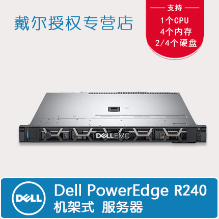 Dell R230 r240 rack 1U small storage network server file ERP financial server