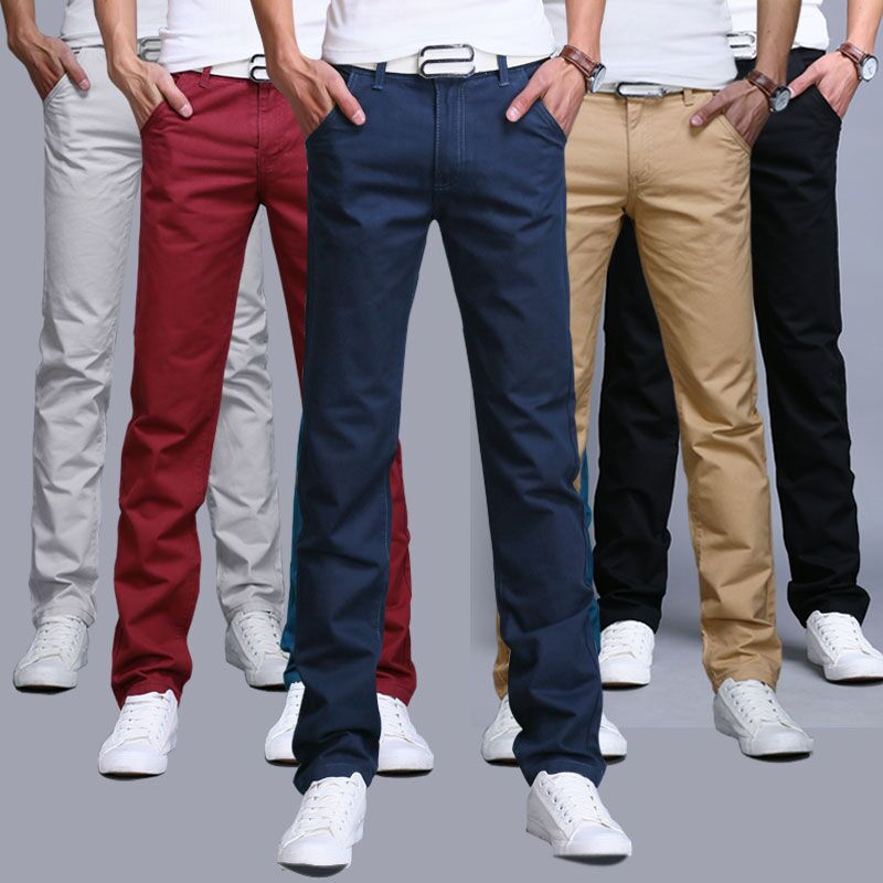 Autumn mens casual pants straight tube slim pants mens wear Korean version winter Plush loose all kinds of business pants fashion