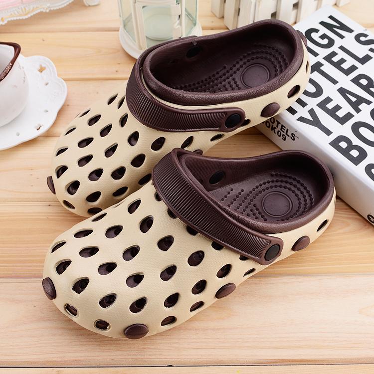 洞洞鞋男夏季平跟情侣厚底防滑大头拖鞋花园鞋包头沙滩鞋凉鞋男女