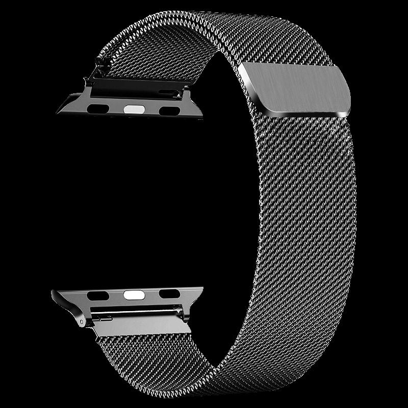PZOZ苹果iwatch表带手表apple watch配件5米兰尼斯1/2/3/4潮S4手表带男一代不锈钢series运动型44mm38/42/40