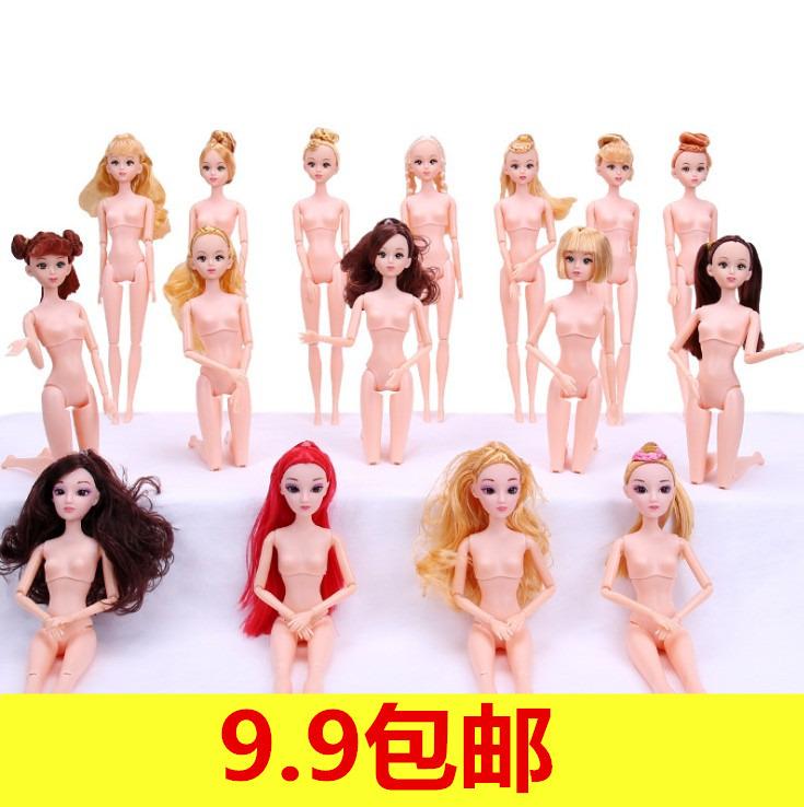 安媛芭比洋娃娃套裝換裝身體裸娃素體公主女孩玩具衣服3D真眼