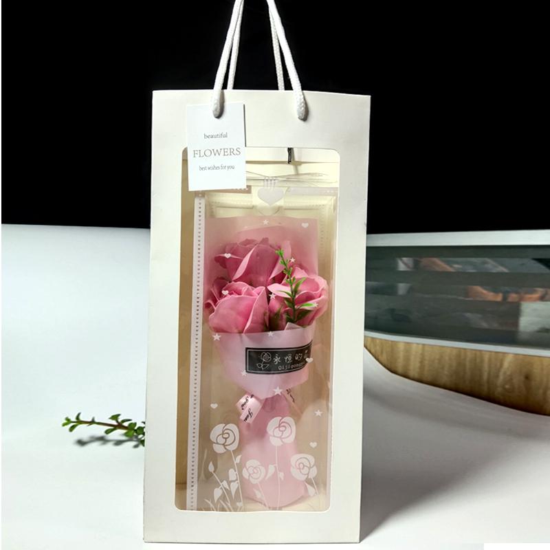 教师节送老师肥皂花花束送客户玫瑰肥皂花束毕业礼物香皂花束礼品