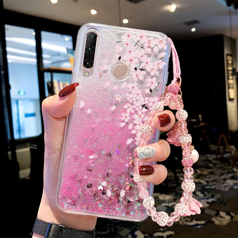 适用于华为荣耀20i手机壳畅享9s女款潮牌荣耀10i硅胶液体流沙软壳