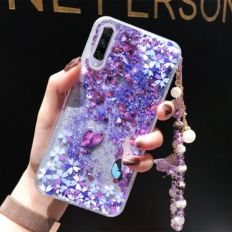 适用于华为荣耀9X手机壳9Xpro女款潮牌huawei honor9X液体流沙全