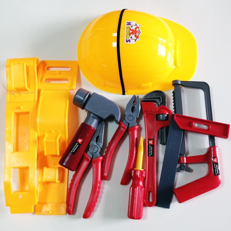 儿童益智仿真维修理工具玩具套装男孩宝宝帽子螺丝刀巴布工程师