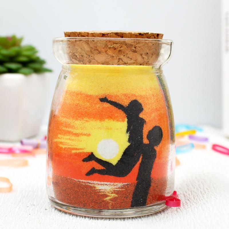 DIY浪漫沙畫瓶