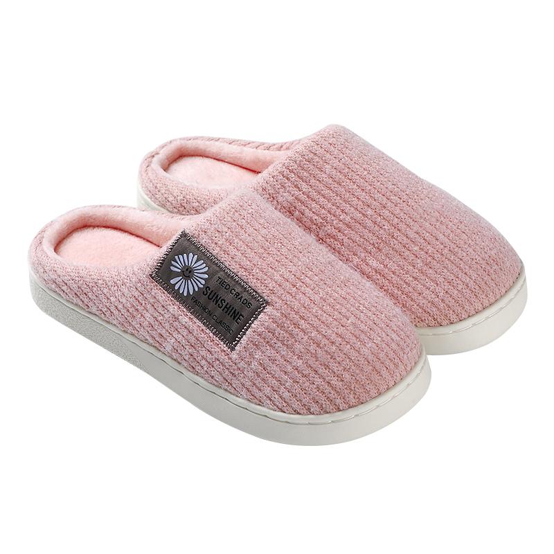 棉拖鞋女秋冬季厚底可爱家用包跟居家室内情侣毛绒棉鞋男保暖家居