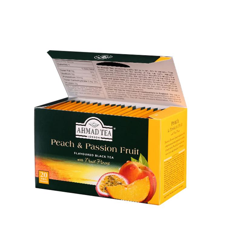 亚曼AHMAD TEA 进口红茶 水蜜桃百香果味红茶叶 袋泡茶包2g*20包