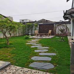 青石板踏步石户外庭院脚踏石花园草坪垫脚石园林汀步别墅防滑地砖