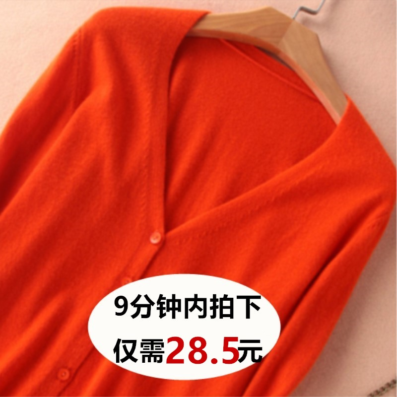 Knitted cardigan womens short cardigan large size air-conditioning shirt with Korean solid color thin coat loose bottomed sweater