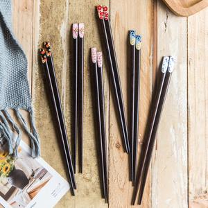 原木寿司筷子尖头日式家用ins创意个性一人一筷1双单人装实木筷子