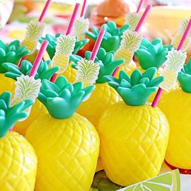 INS风生日主题派对装饰布置菠萝造型饮料杯子水杯拍照道具1个图片
