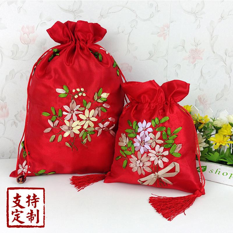 祝いの結婚式の祝いの袋の錦のキャンディの袋のお返しの喜糖袋のアイデア食品の満月の酒の贈り物の箱の卵の袋