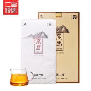 高马二溪安化黑茶高马贡金花茯砖茶900g正宗黑茶湖南安化茯茶正品