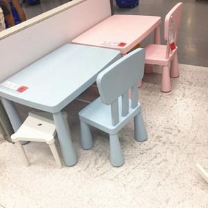 康承宜家儿童桌椅套装幼儿园桌椅宝宝学习桌家用写字桌玩具桌塑料