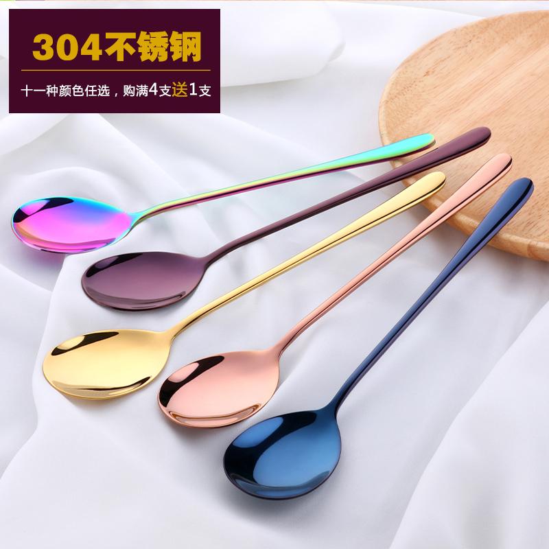 304 нержавеющая сталь ложки сын творческий корейский милый сковорода ложка 2 поддержки костюм домой милый студент посуда