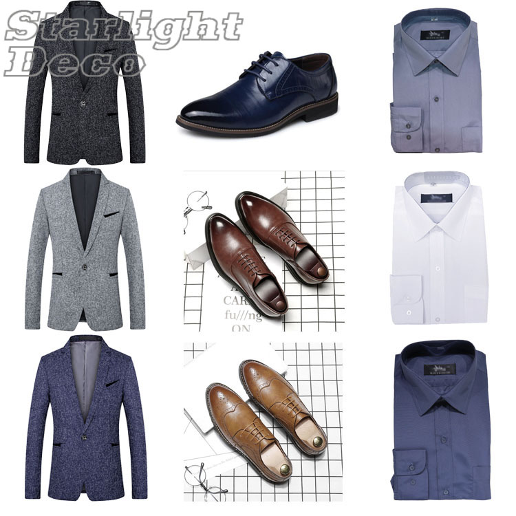 Model room cloakroom wardrobe suit, leather shoes and shirts with ornaments all room custom decorations