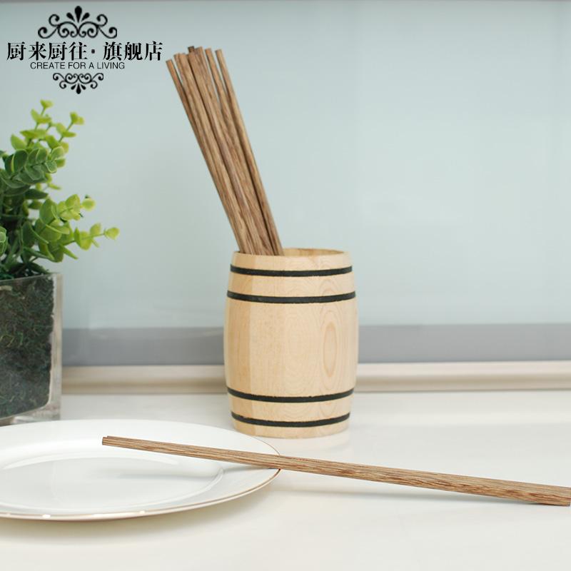 廚來廚往雞翅木筷子家用日式筷無漆無蠟酒店紅實木餐具10雙家庭裝