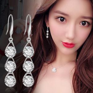 显脸瘦的耳环女气质韩国纯银耳钉