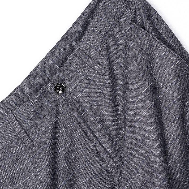 限时2件3折圣玛露商务修身格子裤男裤夏裤男士休闲裤夏装夏天长裤子夏季薄款