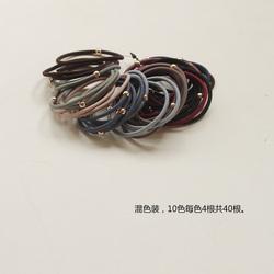 耐用小金珠40根套装~高弹力发圈发饰扎头发橡皮筋韩国简约短发绳