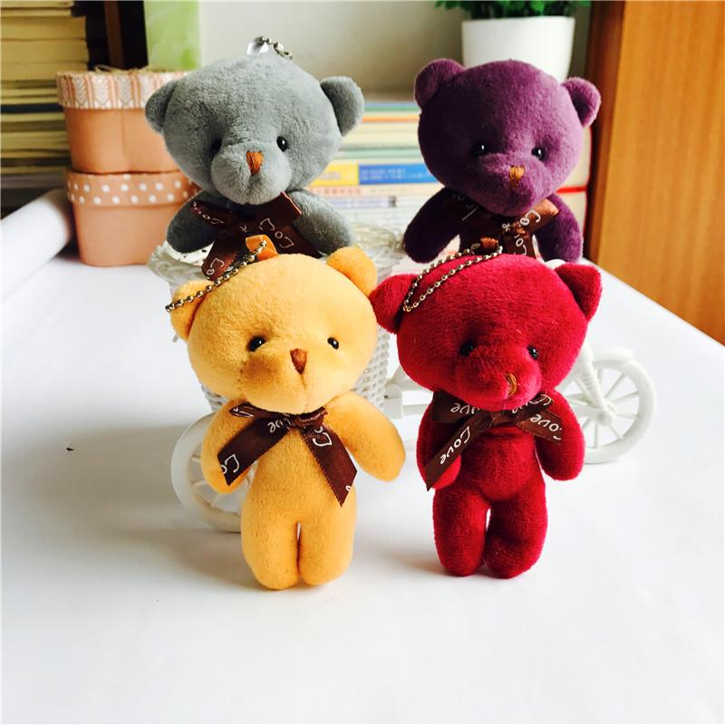 特价小熊毛绒玩具泰迪熊公仔小号迷你玩偶挂件花束饰品包包挂饰
