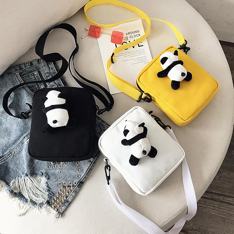 2019ins日系少女软妹萌熊猫cucci女包斜挎包女韩版学生可爱包包