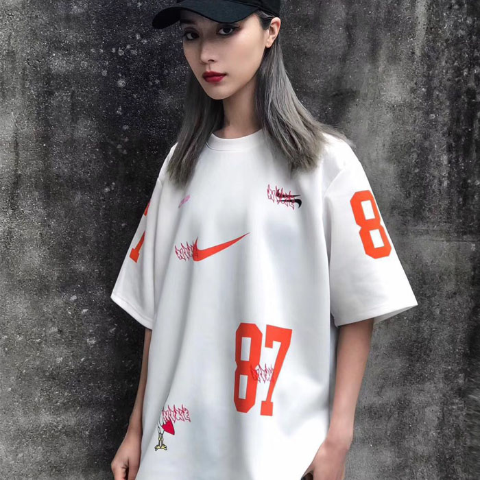 Mens new summer 2020 Sweatshirt T-shirt quick drying short sleeve two color mens and womens same top loose fashion youth