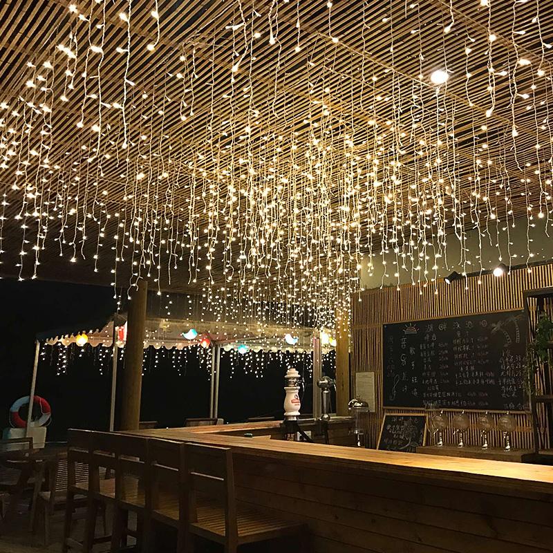 LED彩灯闪灯串灯满天星户外星星灯婚庆房间春节新年装饰灯窗帘灯