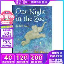 英文原版绘本 One Night in the Zoo 动物园奇妙夜 名家Judith Kerr 亲子睡前故事 常青藤爸爸推荐 儿童图画故事书