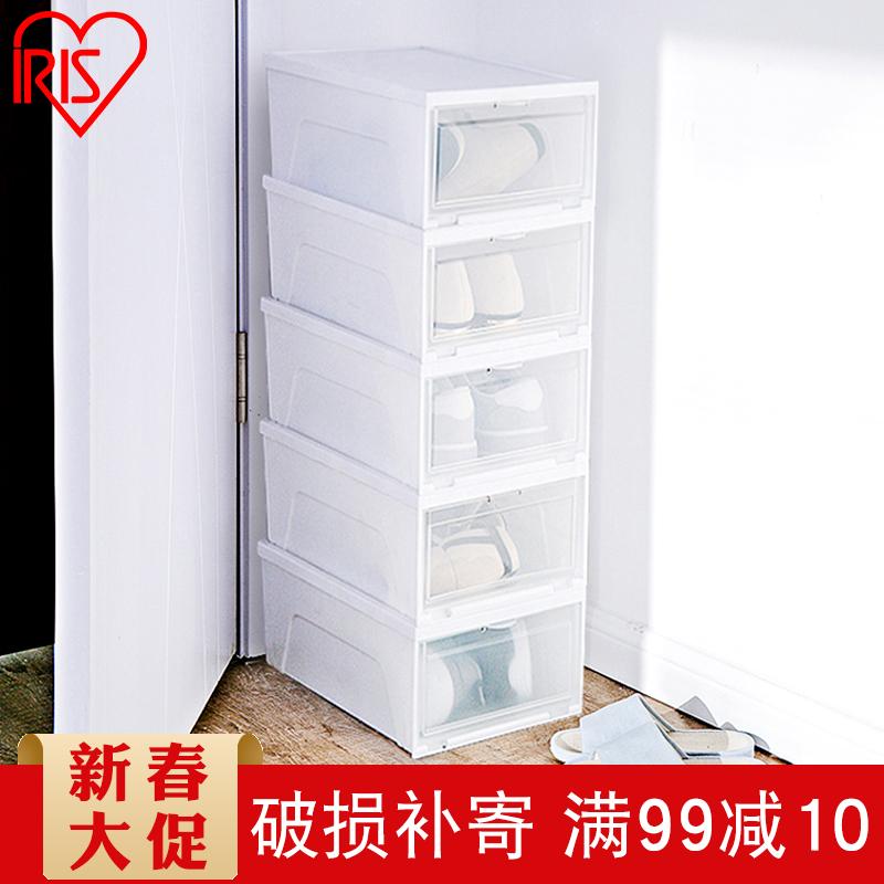 日本爱丽思透明鞋盒抽屉式塑料防尘潮加厚PP树脂鞋子宿舍收纳盒
