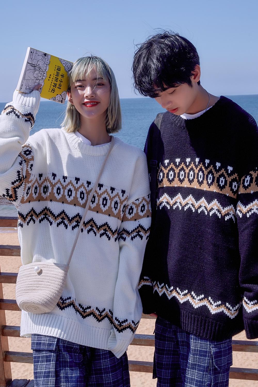 女装类目韩版学院风情侣毛衣外套C310-W32P68,针织衫/毛衣,电商C310