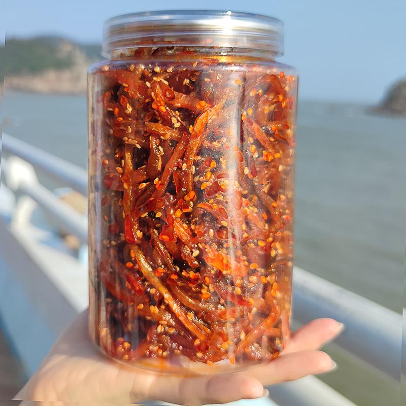 香辣蜜汁鳗鱼丝500g罐装广西北海海味特产休闲零食品麻辣海鲜小鱼