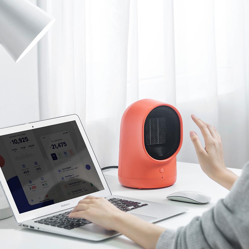 小熊取暖器办公室桌面电暖风家用浴室小太阳省电节能迷你电暖神器