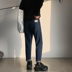 2019夏季韩版修身小脚牛仔裤 九分裤洗水弹力贴布男裤KZ106/P55.