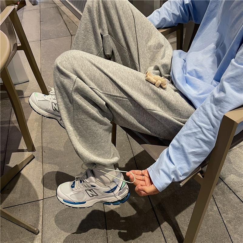 21夏装运动休闲裤男韩版中性小熊卫裤宽松潮流新款男女裤KK81/P45