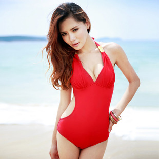 New fashion Korea triangular piece swimsuit spa sexy swimwear female Siamese female swimsuit bikini