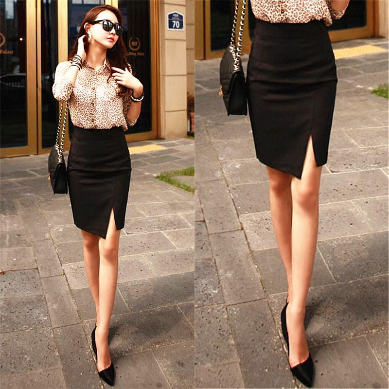 Irregular Hip Wrap Skirt, half length skirt, high waist sexy short skirt, female spring and autumn black ol work dress, professional wrap skirt, one-step skirt