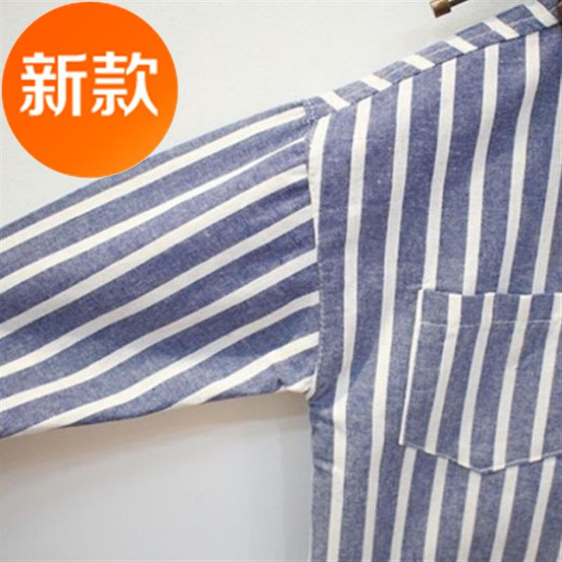 Long Japanese spring and summer medium and large loose girls shirt suit baby 07 baby big Lapel girl child sweet