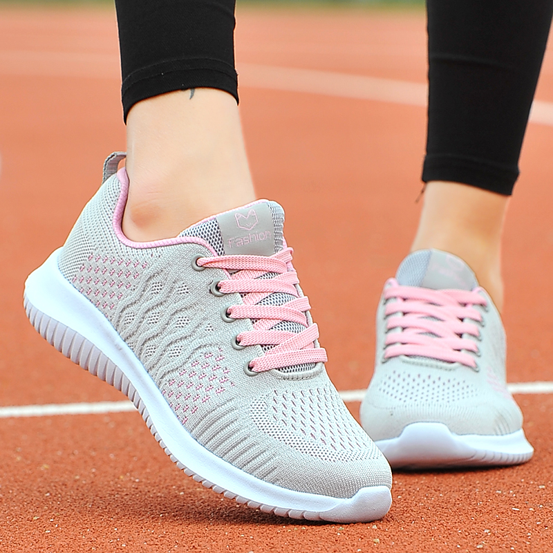 Dewey jordan womens shoes autumn mesh soft sole sneakers for women students breathable running shoes versatile casual shoes 361