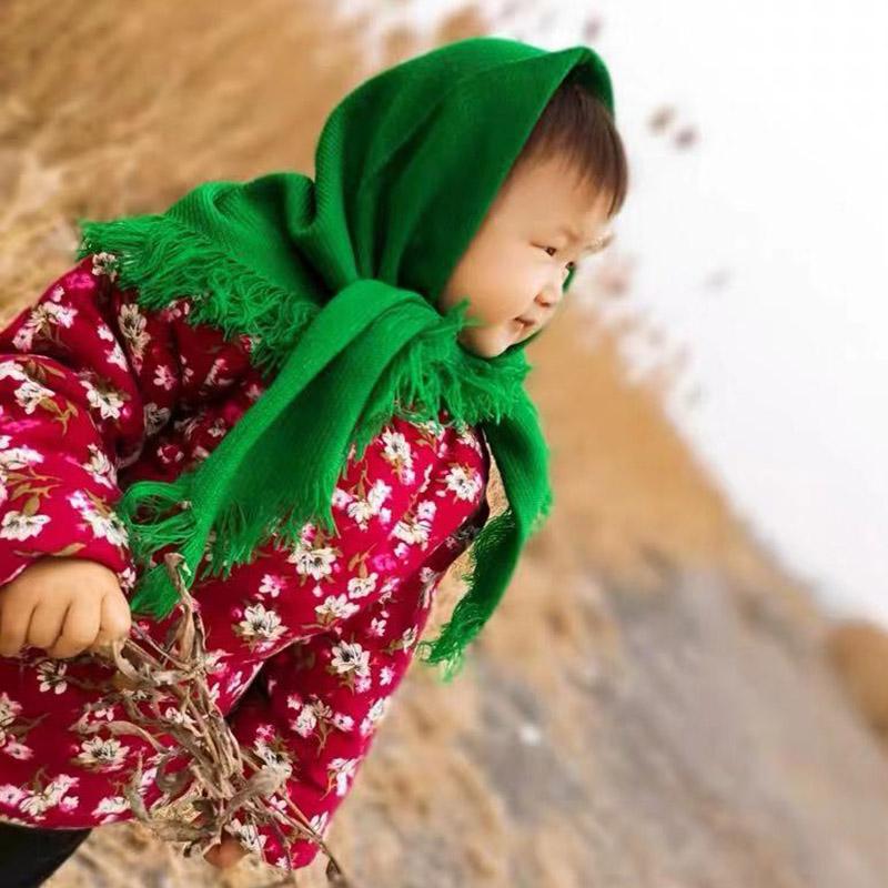 老人头巾女秋冬针织中老年妇女包头方巾农村老式四方保暖奶奶围巾