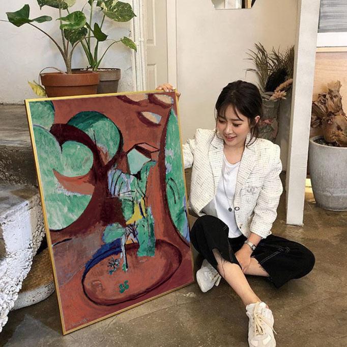 亨利.马蒂斯Matisse野兽派油画现代客餐厅卧室装饰画北欧电表箱画(非品牌)