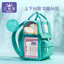 Sanmei Baby Backpack Milk Equipment Refrigerated Portable Work Insulation Blue Ice Milk Storage Ice Bag Milk Preservation Bag